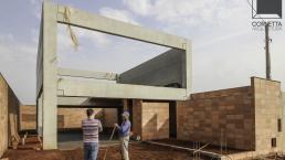 fachadas, sobrados, casas prefabricadas, concreto, aparente