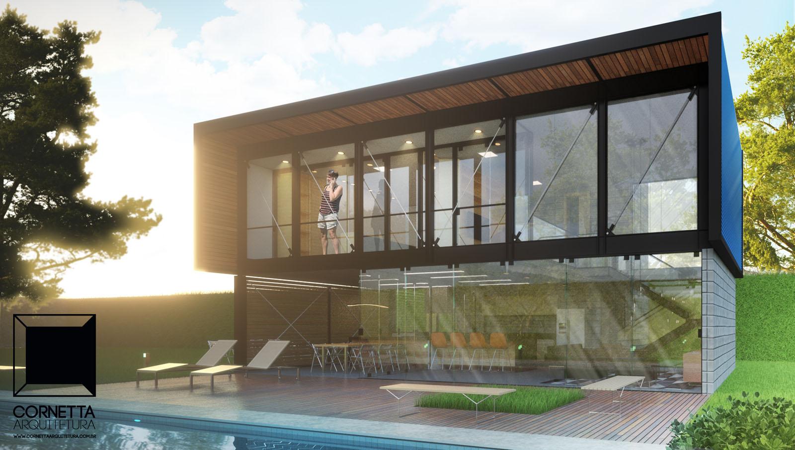 loft pf cornetta arquitetura. Black Bedroom Furniture Sets. Home Design Ideas