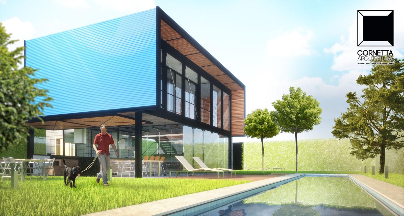 Loft pf cornetta arquitetura for Modelos de techos metalicos para casas