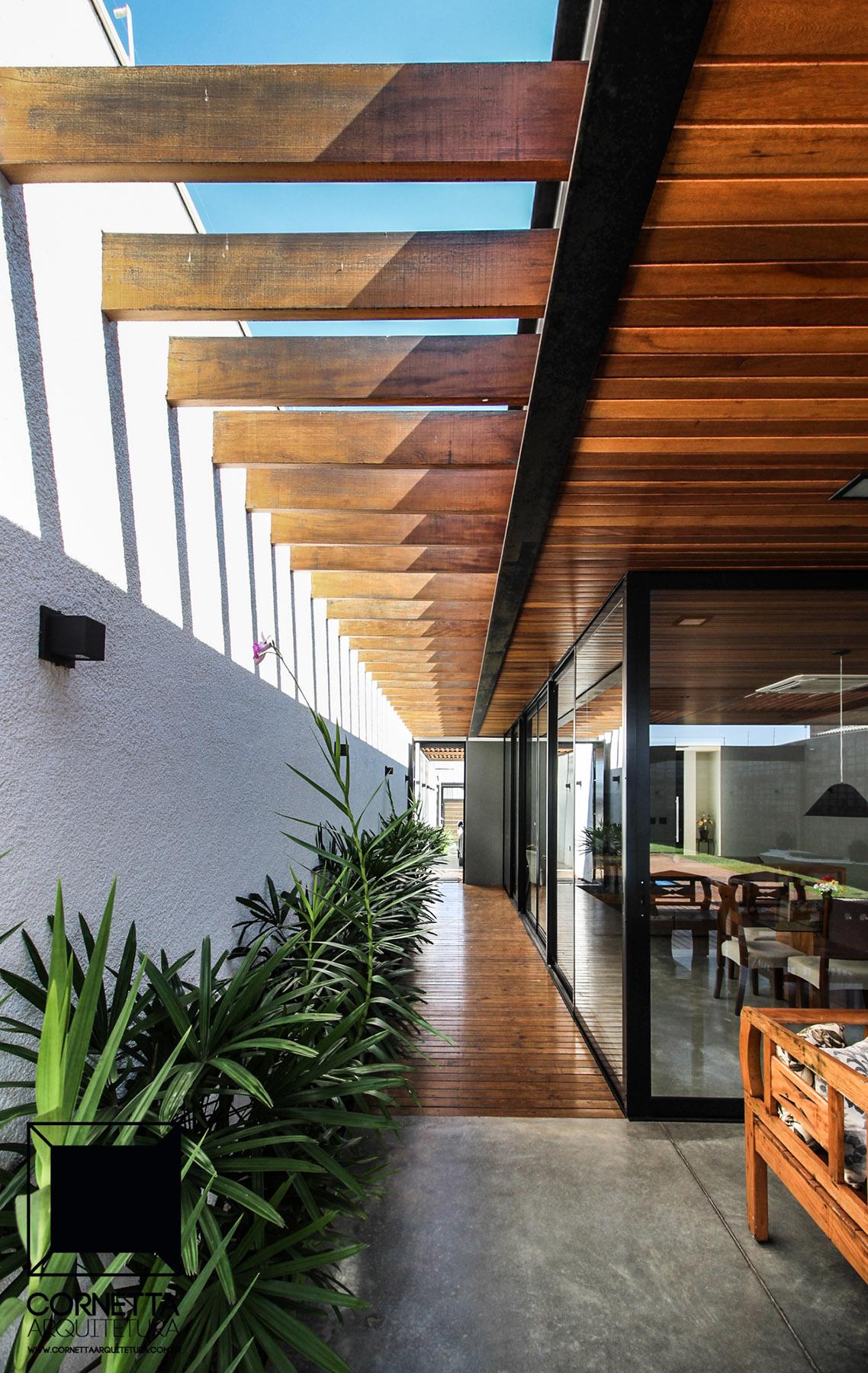 Casa ats cornetta arquitetura for Techumbres modernas