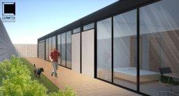 casas modulares, estrutura metalica, deck, casas ecológicas, telhado metalico