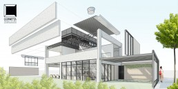 arquitetura, pré moldada, premoldada, concreto, aparente, prefabricada