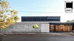 cornetta, arquitetura, fachadas, casas modernas, concreto aparente, estruturas metalicas, blocos aparentes, casas prefabricadas, casas premoldadas, casas pré moldasas