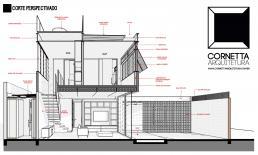 cornetta, projeto, arquitetura, premoldados, concreto aparente, sobrado