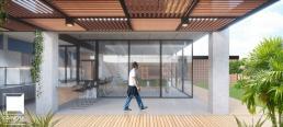 cornetta, arquitetura, casa pre fabricada, casa pre moldada, varanda, lazer, pergolado, madeira, estrutura metalica