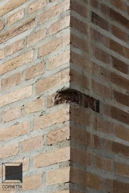 cornetta, tijolo aparente, alvenaria aparente, tijolo ecológico, ecologico