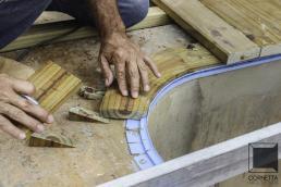 deck, madeira, borda, piscina, area de lazer