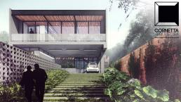 cornetta, arquitetura, architecture, precast, sobrados, fachadas, concreto aparente, estruturas metalicas, casas pré moldadas