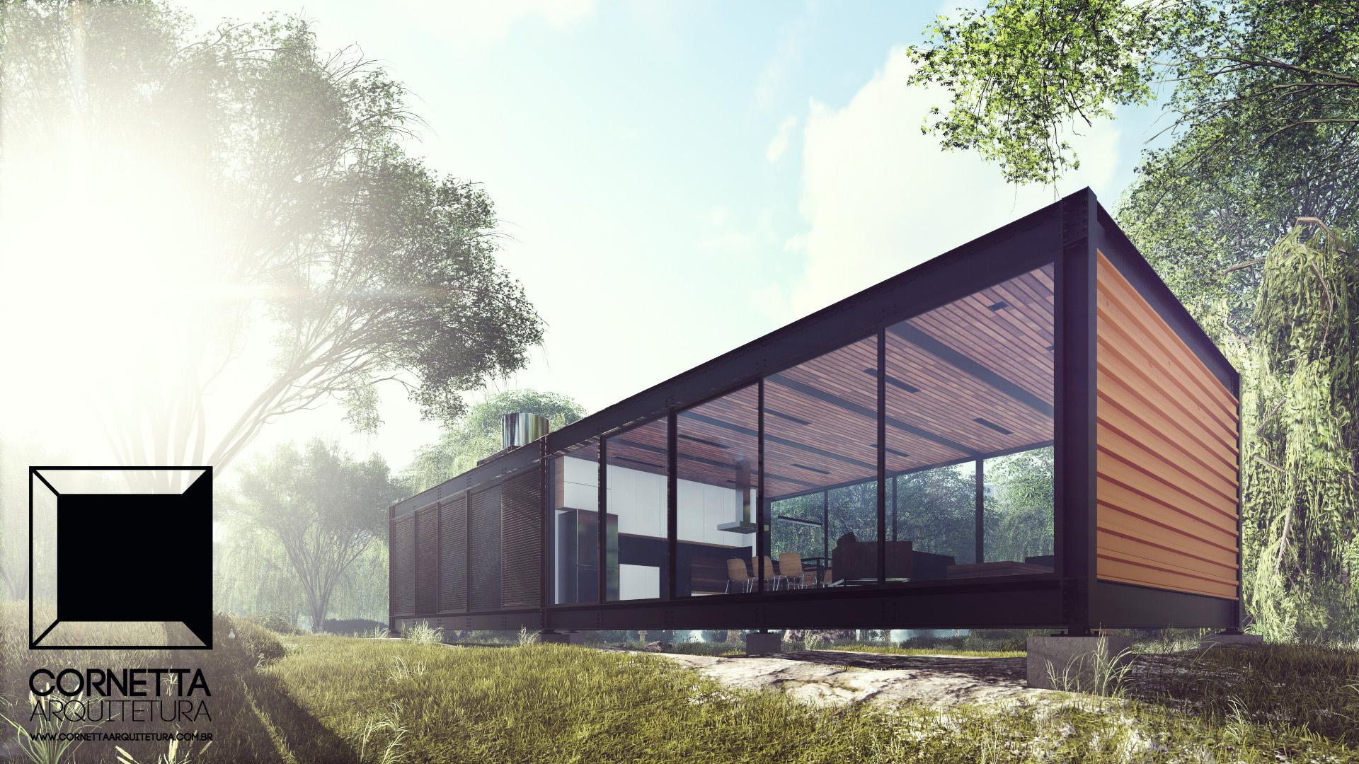 Loft 002 casa de campo cornetta arquitetura for Casas modernas para campo
