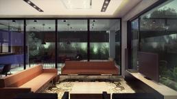 cornetta, arquitetura, casas premoldadas, casas prefabricadas, concreto aparente, alto padrão, sala estar, ambientes integrados