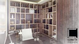 cornetta, arquitetura, prefab houses, prefab homes, prescast concrete, casas modernas, escritório, home office, madeira, assoalho