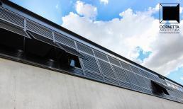 cornetta arquitetura, fachadas modernas, concreto aparente, estrutura metálica, estruturas metalicas, pre moldados, pre fabricados