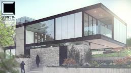 cornetta arquitetura, casas modernas, estrutura metalica, estruturas metalicas, fachadas modernas, pedra, madeira, vidro, concreto aparente, casa de alto padrão