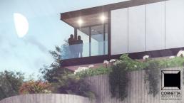 cornetta arquitetura, casas modernas, estrutura metalica, estruturas metalicas, sacada, sacadas, vidro, madeira, fachadas,