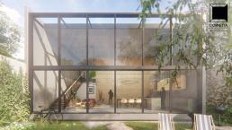 cornetta arquitetura, architecture, prefab, pre moldados, concreto aparente, fachada, vidro, casas modernas, loft, lofts
