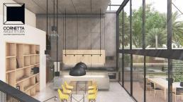 cornetta arquitetura, projetos, arquitetura, casas modernas, pré moldados, concreto aparente, pé direito duplo, ambientes integrados, vidro, deck, varanda, lazer