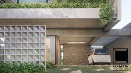 cornetta arquitetura, cornetta, arquitetura, casas de concreto, concreto aparente, pré moldados, garagem, cobogós,floreira,jardim