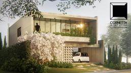 cornetta arquitetura, cornetta, arquitetura, casas de concreto, concreto aparente, pré moldados, fachadas, sobrados, garagem aberta