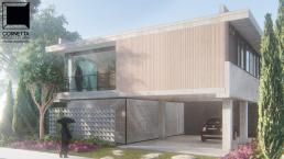 fachadas, casas, modernas, arquitetura, concreto aparente, madeira, vidro, curitiba