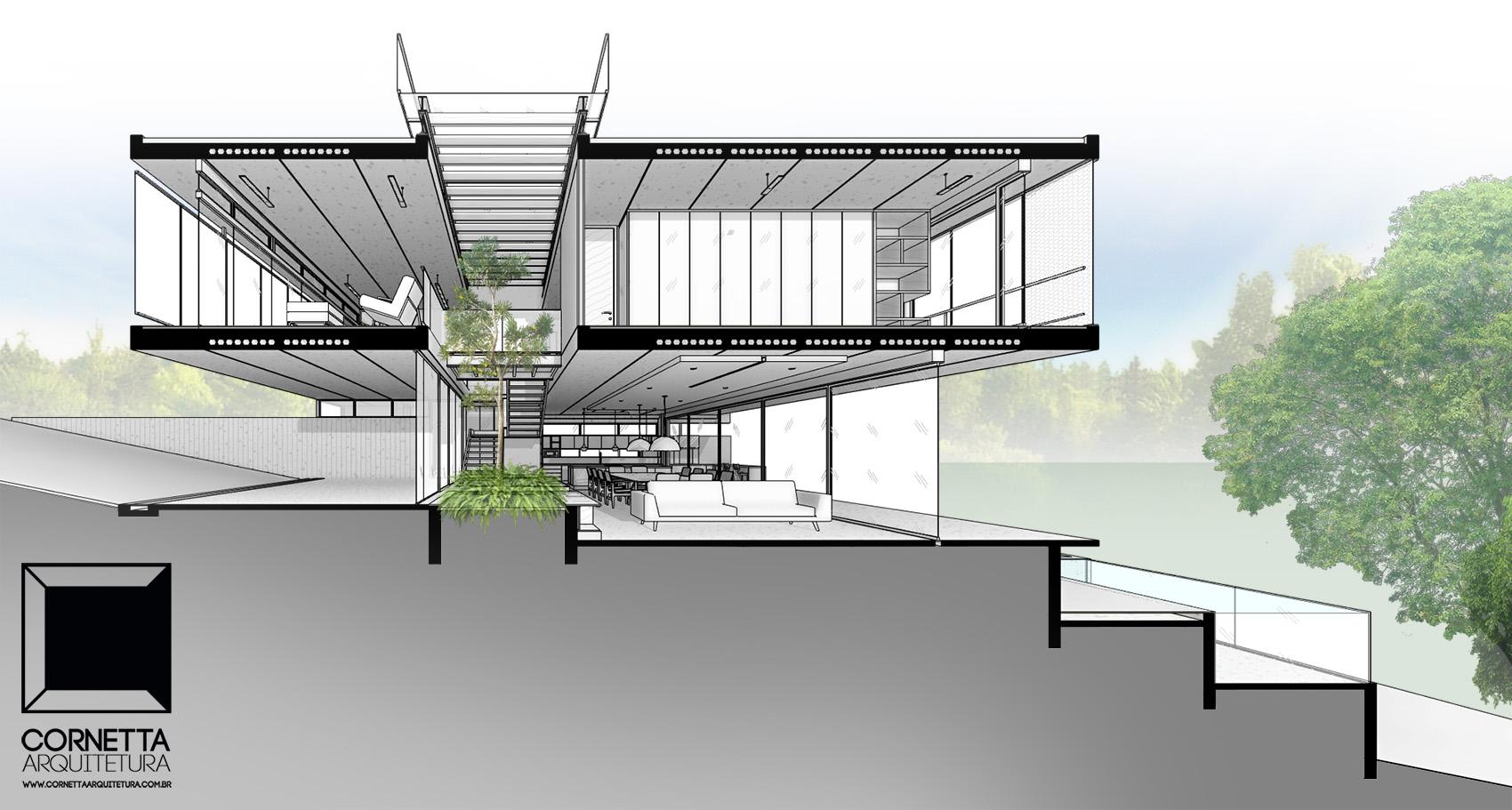 Casa 22 casa minimalista constru o industrializada for Casa minimalista dwg