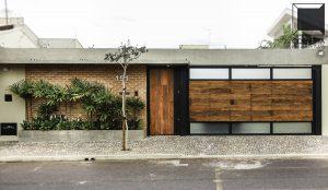 cornetta, arquitetura, fachada, casas modernas, madeira, concreto