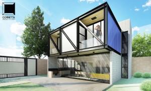 projeto arquitetonico, loft, estrutura metalica, sobrado, casas prefabricadas, fachadas, fachadas de casas pequenas, fachadas de sobrados, modelo de sobrado