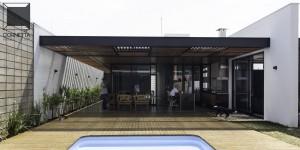 arquitetura, matão, estrutura metálica, metálica, bloco aparente, casa