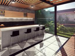 casas alto padrão, pergolado, varanda, concreto aparente, bar, lazer, piscina, industrial, loft