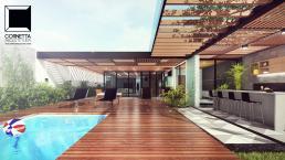 casas alto padrão, pergolados, madeira, casas estruturas metalicas, bar, vidro