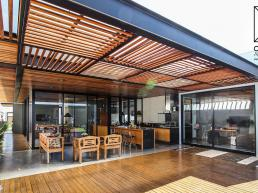 cornetta arquitetura, casas térreas, estruturas metalicas, varanda gourmet, alto padrão