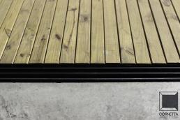 piso, concreto, madeira, deck, pinus