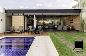 casas modernas, varanda, estrutura metálica, jardim, natureza, casas ecológicas