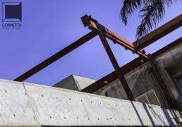 cornetta, estrutura metalica, estrutura metálica, concreto, concreto aparente, reforma