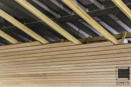 cornetta, forro, madeira, cobertura metalica