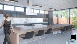 cornetta, arquitetura, casa, estrutura metalica, metálica, cozinha, bancada, ilha, gourmet