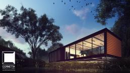 cornetta, arquitetura, casa de campo, casas ecológicas, casa sustentavel, casas terreas, loft, prefab houses, small homes
