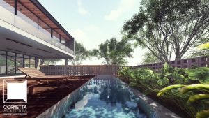 casas ecologicas, sobrados, modelos, fachadas, piscina, deck, declividade