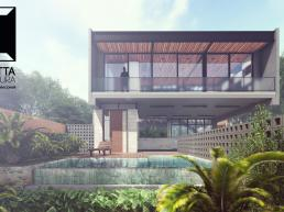 cornetta, arquitetura, prefab, houses, homes, casas alto padrao, casas ecologicas, sobrados, concreto aparente, declividade, declive