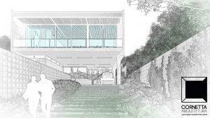 cornetta, arquitetura, architecture, fachada, croqui, perspectiva, desenho, casas ecologicas