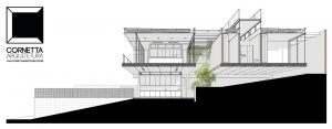 escritorio, arquitetura, casas prefabricadas, sobrado, concreto, jardim interno