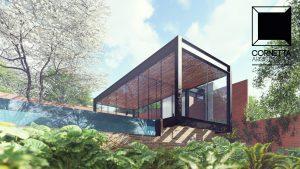 casas ecologicas, casas terreas, estruturas metalicas, madeira, varanda, sauna