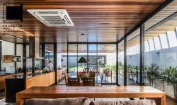 cornetta arquitetura, casas estruturas metalicas, casas térreas, casas modernas, casas ecologicas, concreto aparente, madeira, varanda