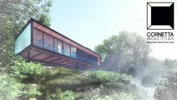 casas de campo, loft, lofts, industrial, estruturas metalicas, casas pequenas, encostas, declive, casa de aço, varanda, sacada