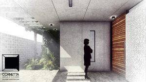 pergolado, garagem, cornetta, arquitetura, casas premoldadas, casas prefabricadas, concreto aparente, alto padrão