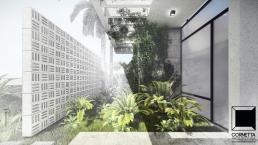 pergolado, jardim, escada, cornetta, arquitetura, casas premoldadas, casas prefabricadas, concreto aparente, alto padrão
