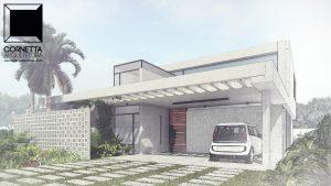 fachadas, sobrados, pergolados, cornetta, arquitetura, casas premoldadas, casas prefabricadas, concreto aparente, alto padrão