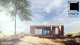 cornetta, arquitetura, architecture, prefab, loft, lofts, casas ecologicas, teto jardim, teto verde, telhado jardim, telhado verde