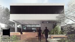 fachada, sobrado, cornetta, arquitetura, casas premoldadas, casas prefabricadas, concreto aparente, alto padrão