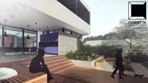 area de lazer, spa, varanda, cornetta, arquitetura, casas premoldadas, casas prefabricadas, concreto aparente, alto padrão