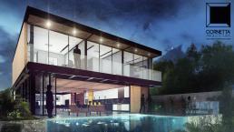 cornetta, arquitetura, architecture, casas estruturas metalicas, estrutura metalica, casas modernas, área de lazer, piscina, varanda gourmet, madeira, sacadas